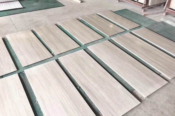 White Wood marble tiles