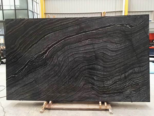 Kenya Black marble slabs