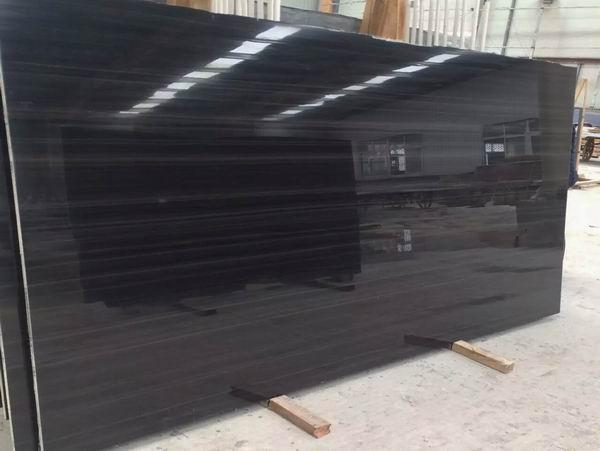 Nero Seta Black Wood marble