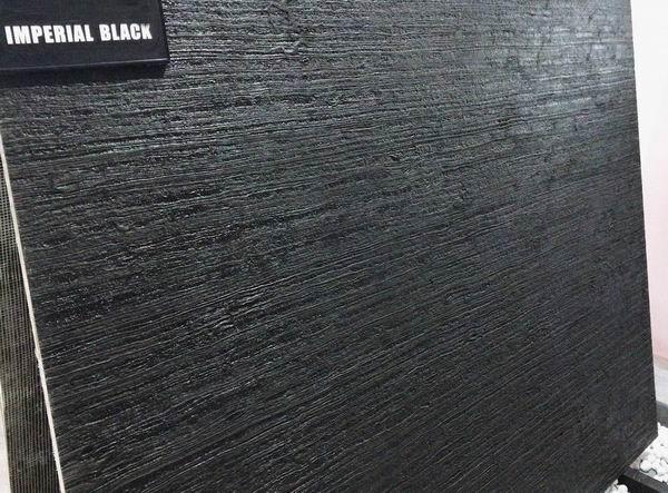 Nero Seta Royal Black wood marble leathered
