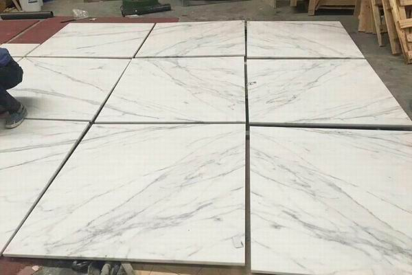 White marble vein bookmatch