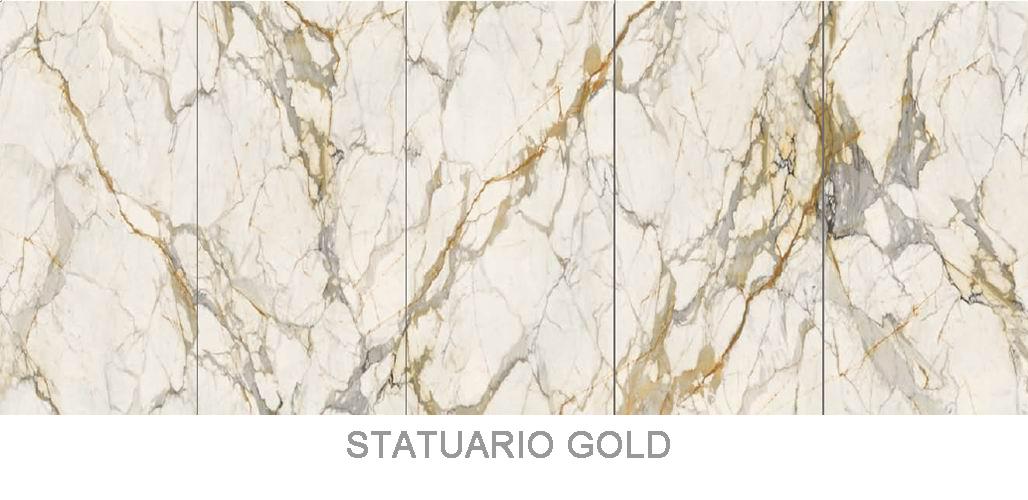 Sintered stone _ Statuario Gold _3200x1600mm