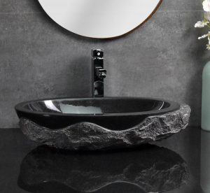 Absolute Black Granite Sinks round split type