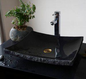 Absolute Black Granite Sinks ship style