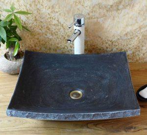 Blue limestone sink