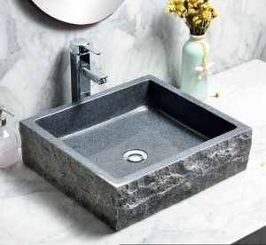 Dark Grey granite back split sinks