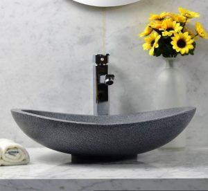 Dark Grey granite fish type sinks