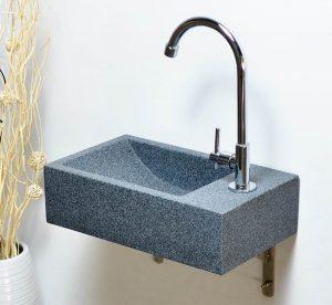 Dark Grey granite wallmount sinks