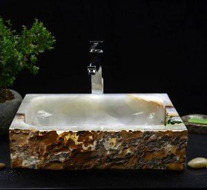 Onyx Rectangle Sink by Snow White onyx