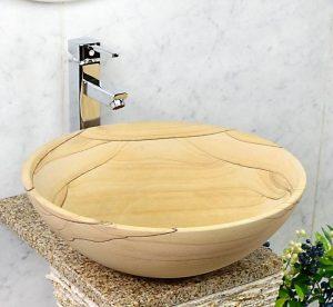 Sandstone Sinks by beige sandstone