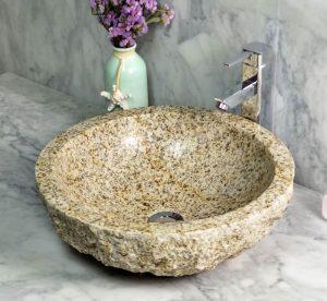 Sunset Gold Granite Sinks split back