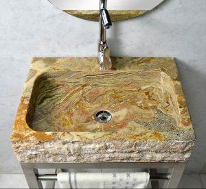 Travertine Rectangle Sink