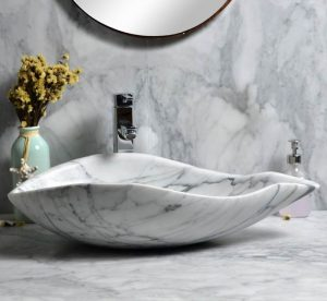 White marble sinks special style