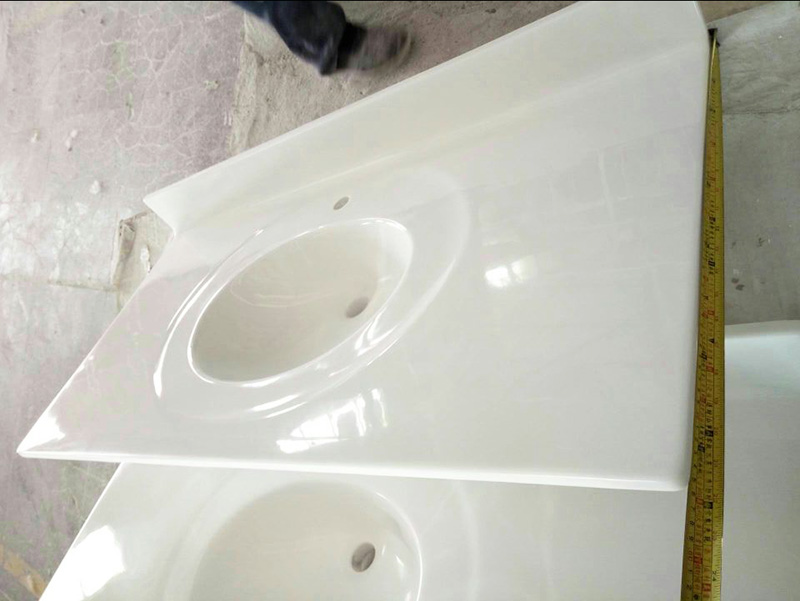 Cultured marble vanity tops with back splashes