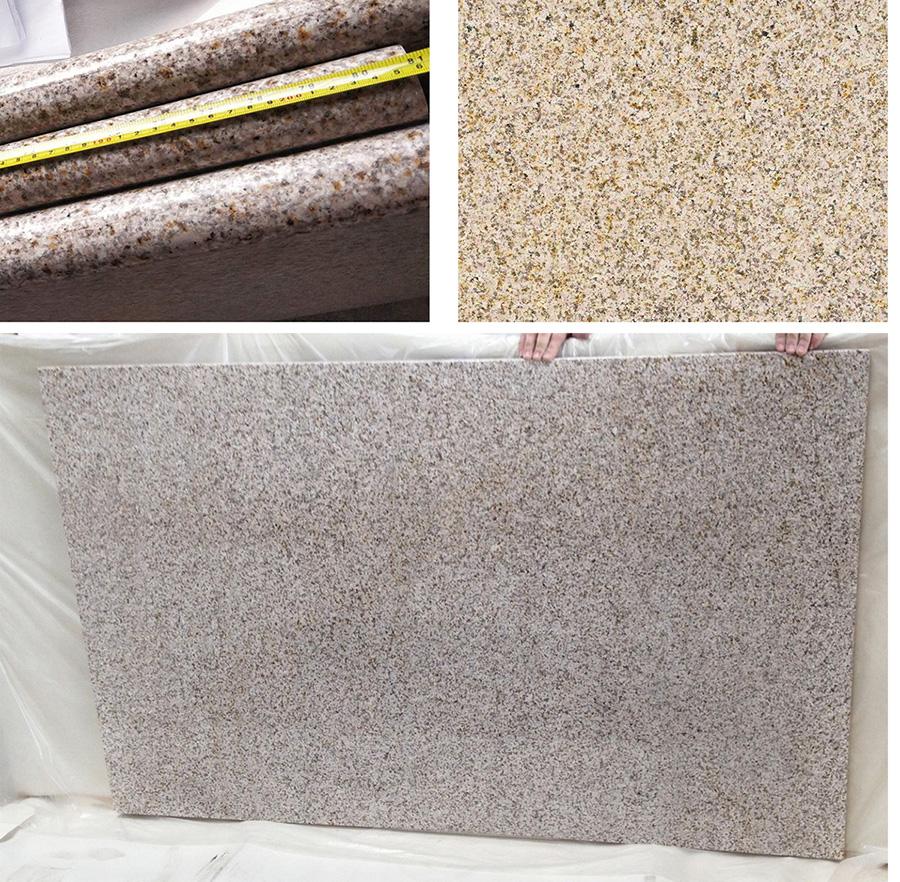 Giallo Fantasia granite tops