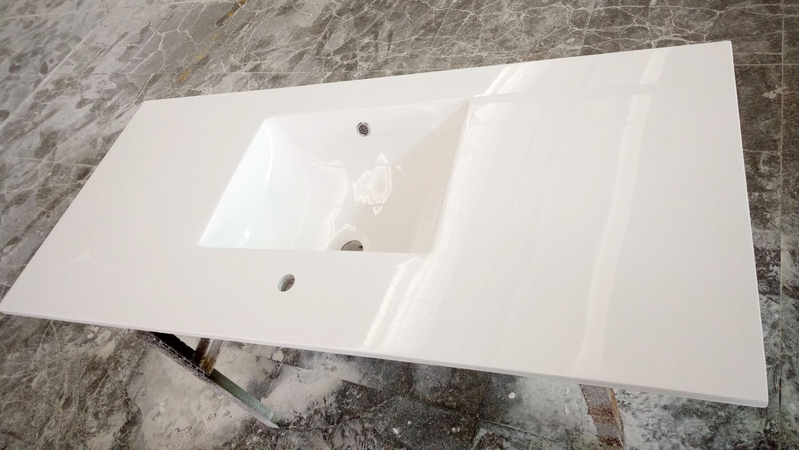 cultured marble vanity top with rectangle integral sink