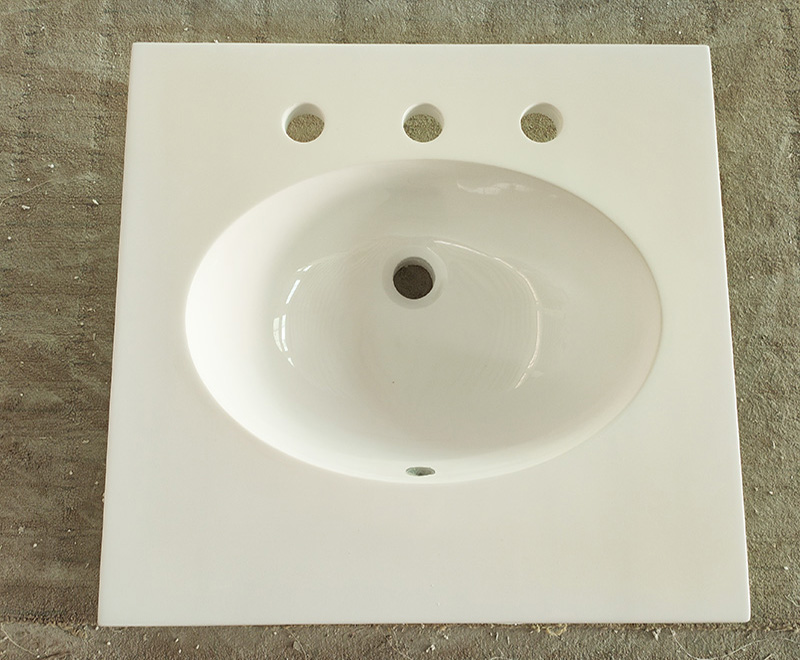 small cultured marble vanity tops with integral sinks.