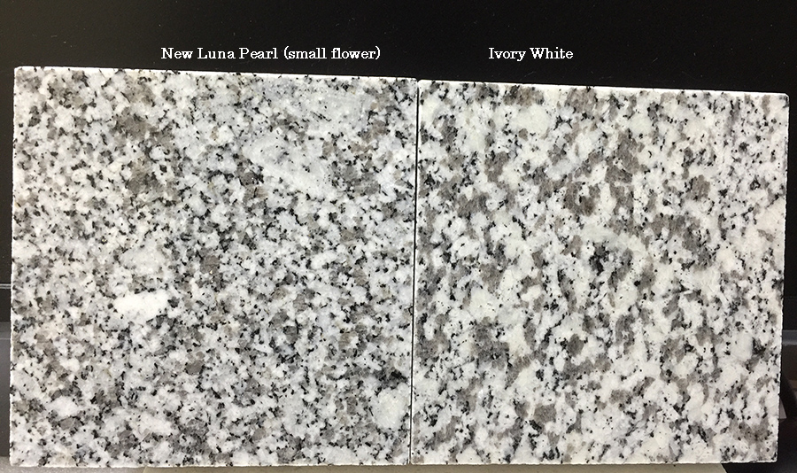 new Luna Pearl (small flower) vs Ivory White